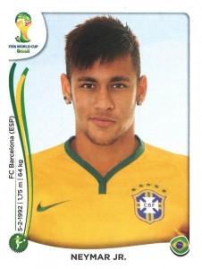 Neymar ist einer der Publikumslieblinge der Brasilianer (Foto: Panini)