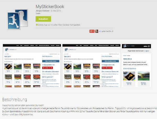 Die mystickerbook.at-App Jetzt endlich auch für alle Android-Geräte