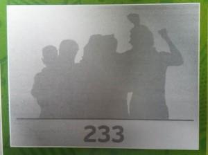 233 ist das meistgesuchte Panini-Pickerl