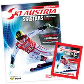 Das offizielle Stickeralbum Ski Austria Skistars in der WM Saison 2012/13